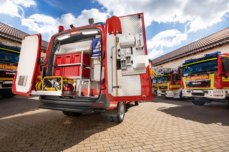 Bild fertiges Feuerwehrfahrzeug von BINZ