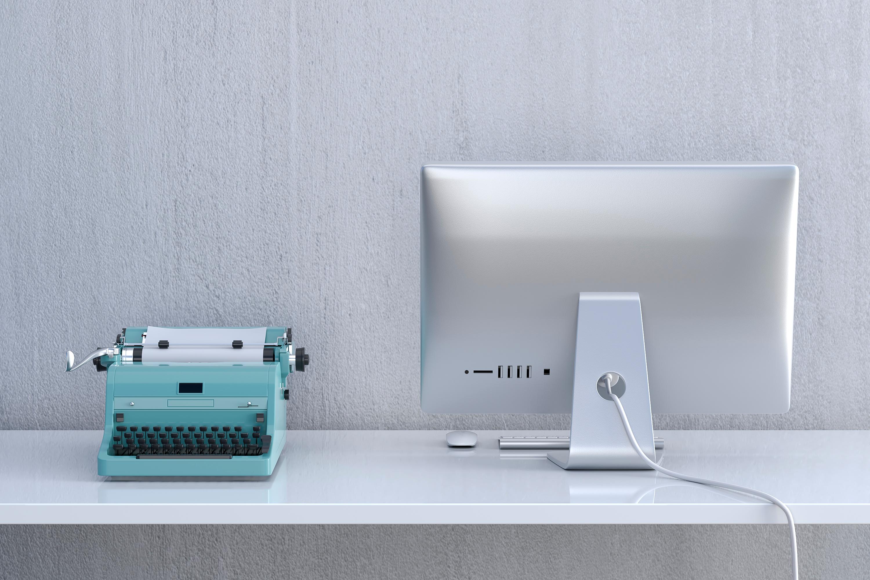 Digitalisierung - von der Schreibmaschine zum Computer