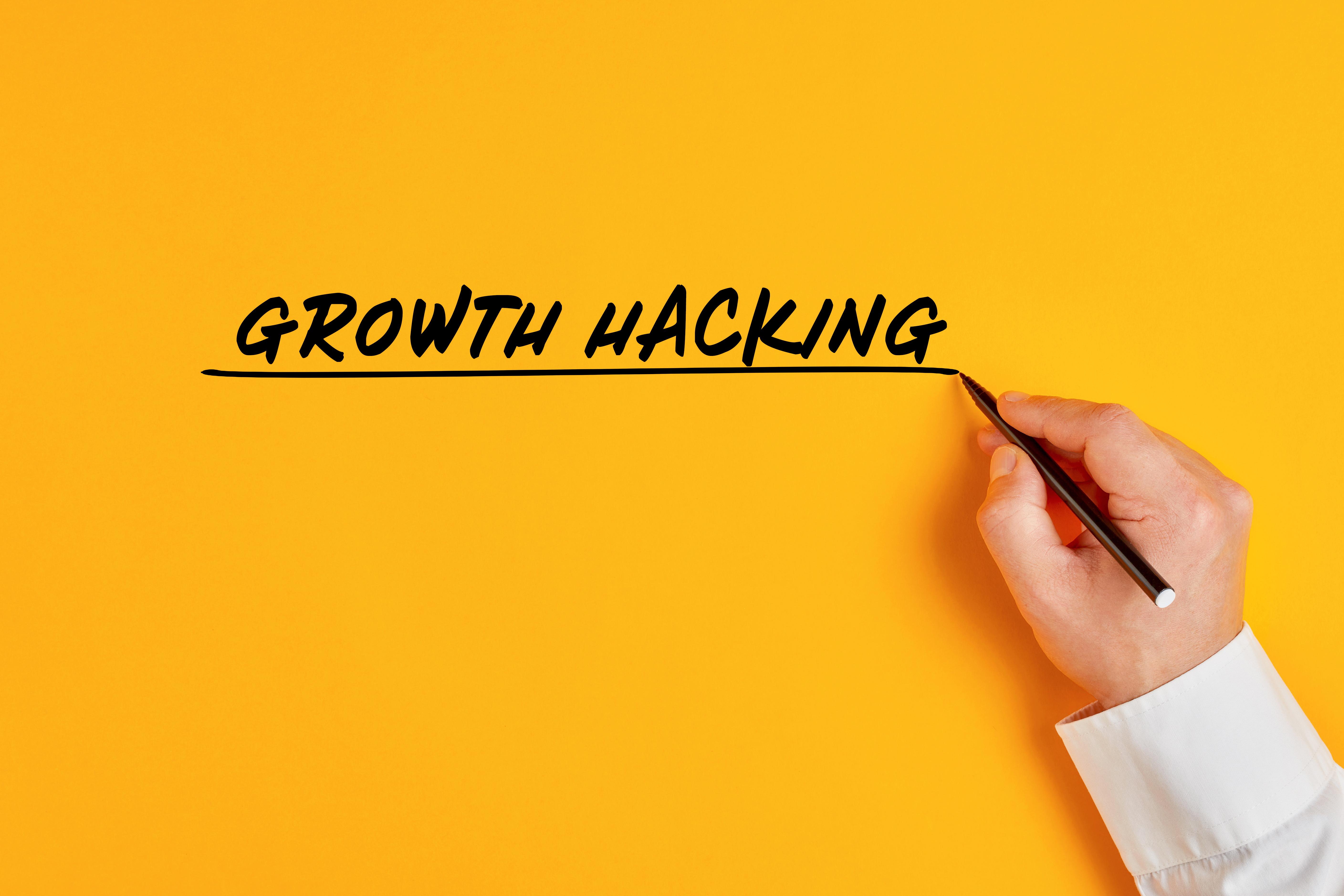 Schriftzug Growth Hacking
